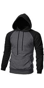 EKLENTSON Mens Hoodies Pullover Athletic Long Sleeve Lightweight Pullover Hoodie