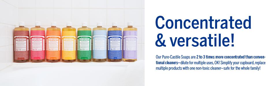 Liquid Soaps, Concentrated & Versatile