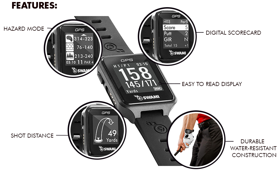Izzo golf gps watch features