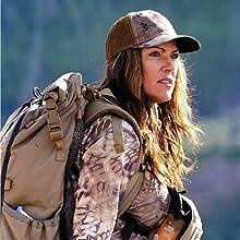 Women's camo, female camo, huntress