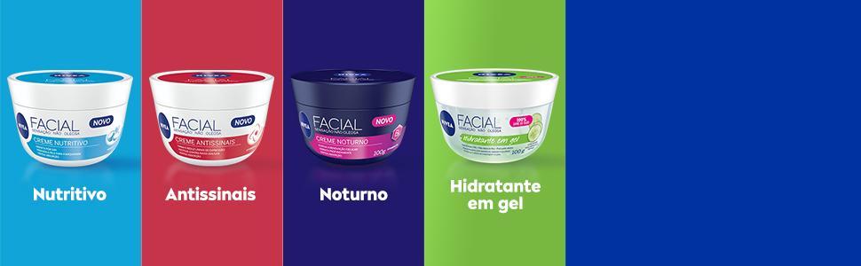Imagem: Creme Facial Nutritivo, Antissinais, Noturno e Hidratante em Gel