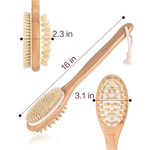 Double sides shower brush