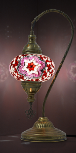 pink boho lamp