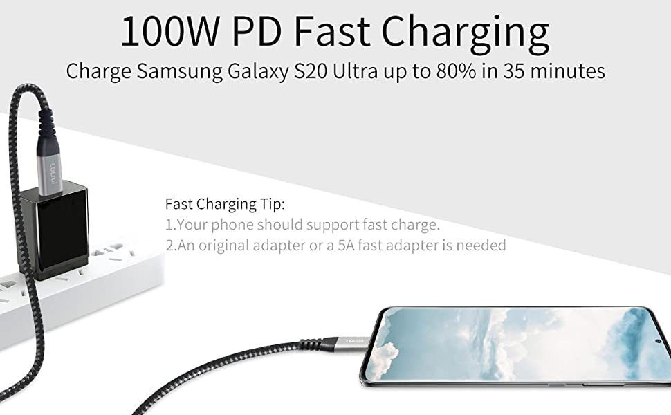 100W PD fast charging