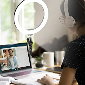 Have comference with ring light