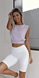 Crop Tops for Women Cute Cap Sleeve