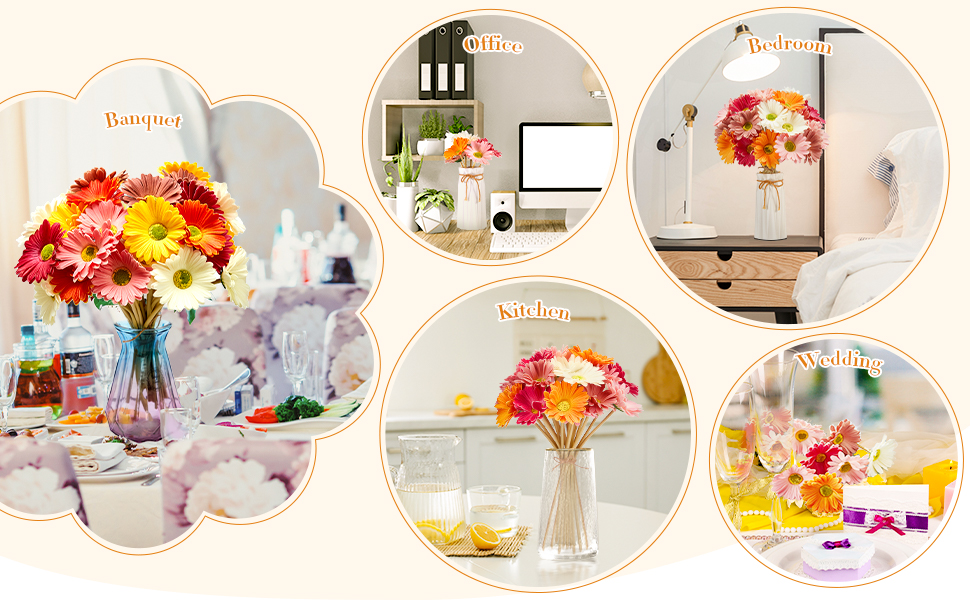 Artificial Gerbera Flowers can be used for many occasions