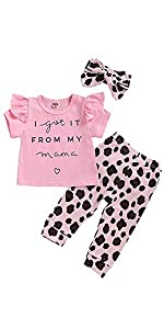 baby girl leopard outfit