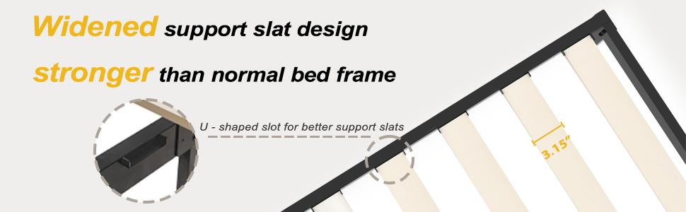 widened support slat design