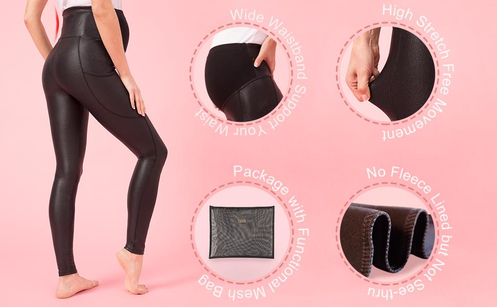tagoo maternity leggings over the belly