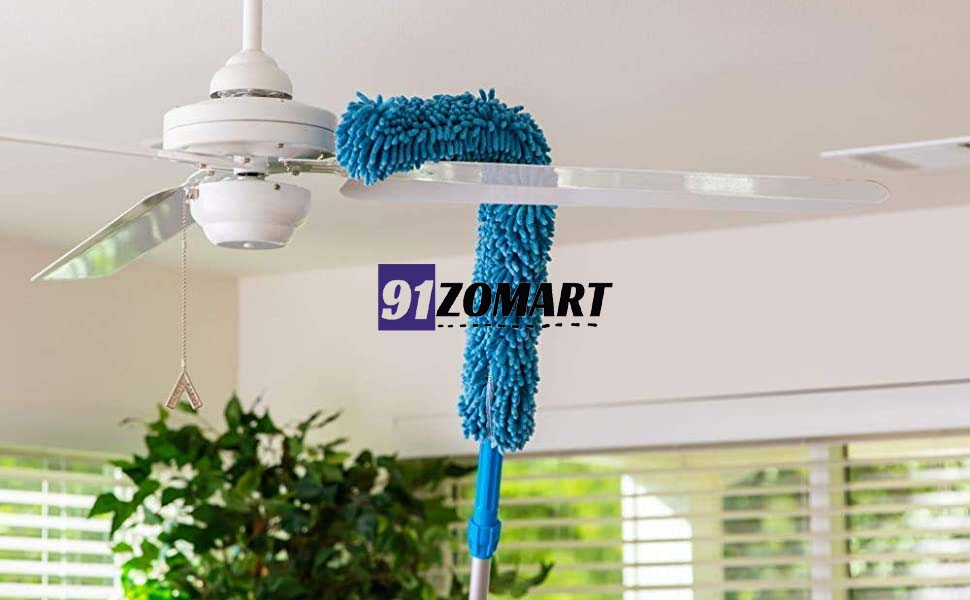 Fan cleaner with rod