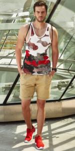 BOLF Herren Tank Top T-Shirt