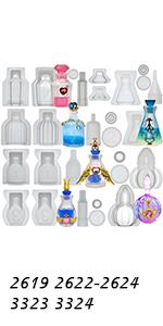 Miniature Bottle Molds Set