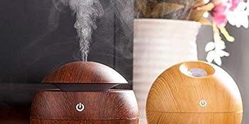 Mini Wood Grain Humidifier, Aromatherapy Essential Oil Diffuser