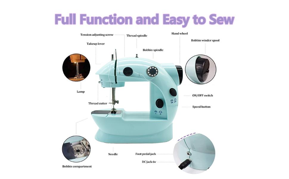 Fully functional beginner sewing machine