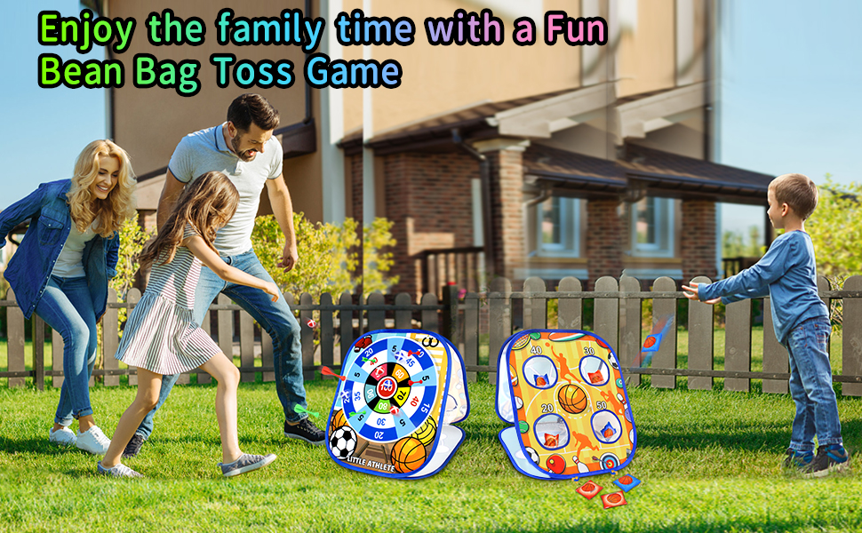 Bean Bag Toss Game for kids family indoors outdoors