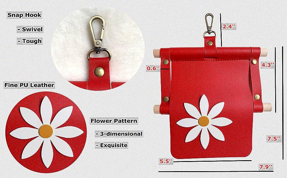 Toilet Paper Holder Swivel Push Gate Snap Hook Paper Holder 3-Dimensional Paper Roll Holder