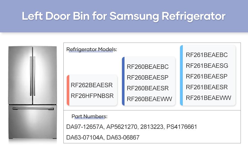 Left Refrigerator Door Bin