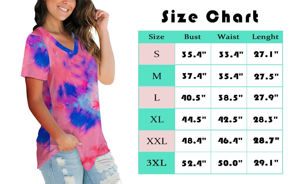 womens fashion tie-dye tops