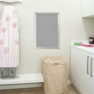 Use magnetic board in laundry room