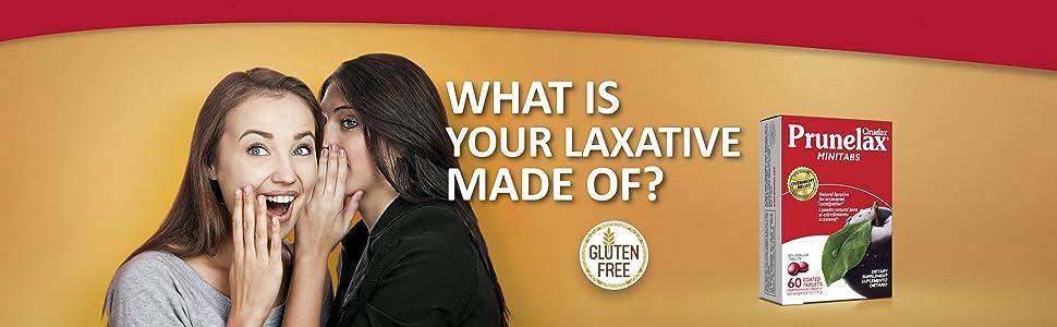 two girls gossip about prunelax ciruelax minitabs, gluten free