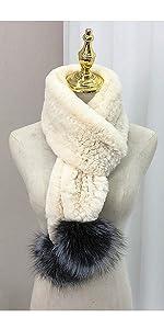 fur scarf pompom