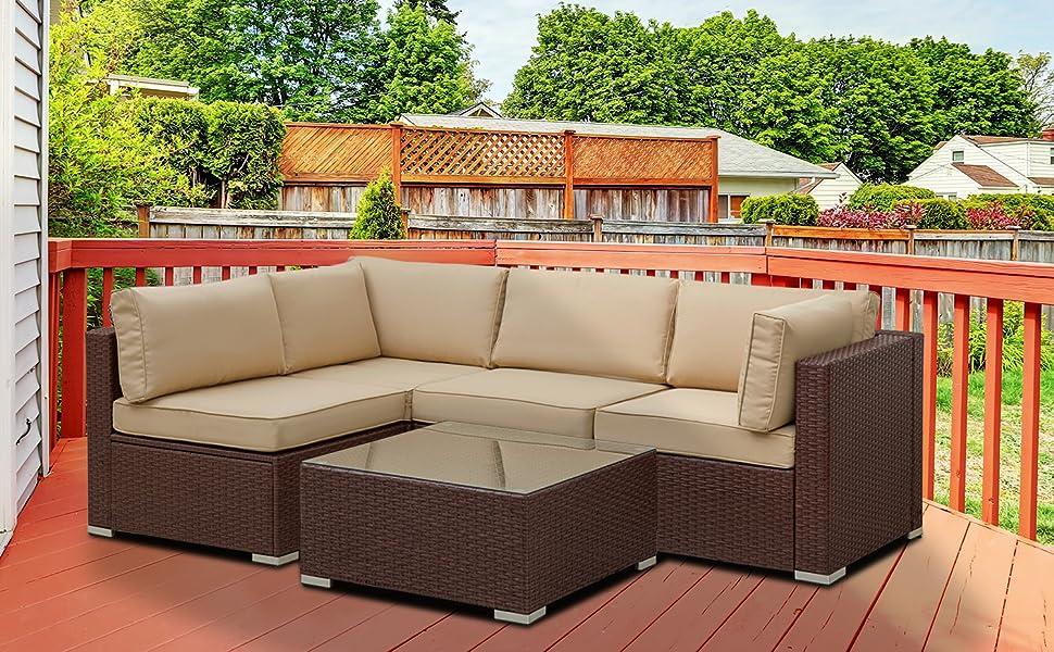 5 piece outdoor sofa set