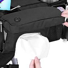 Lil Tots Gear Stroller Caddy Wipes Pocket