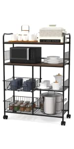 bakers rack microwave cart microwave station