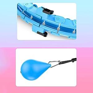 Blue Smart Hula Hoop with a soft gravity ball