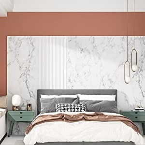 Matte Grey White Marble Contact Paper Peel and Stick Countertops Marble Wallpaper for Walls Table
