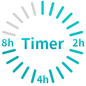 timer 2-4-8 hours