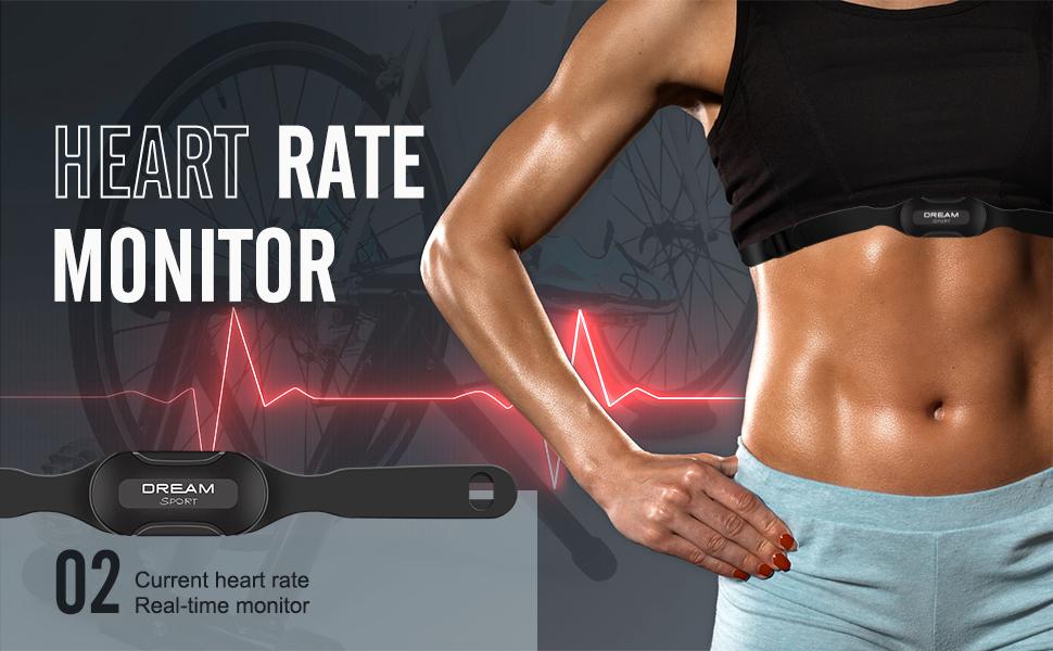SKARLIE Bike Speedometer with Heart Rate Monitor Cadence Speed Sensor Bike Computer Odometer