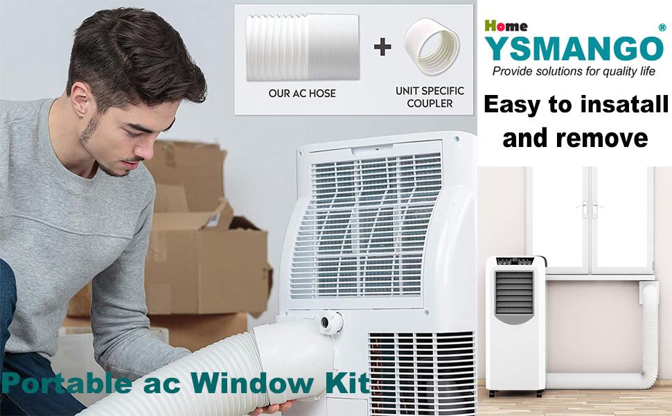 air conditioner accessories ac window vent kit portable ac hose kit portable ac vent