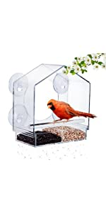 window bird house with 4 strong suction cups