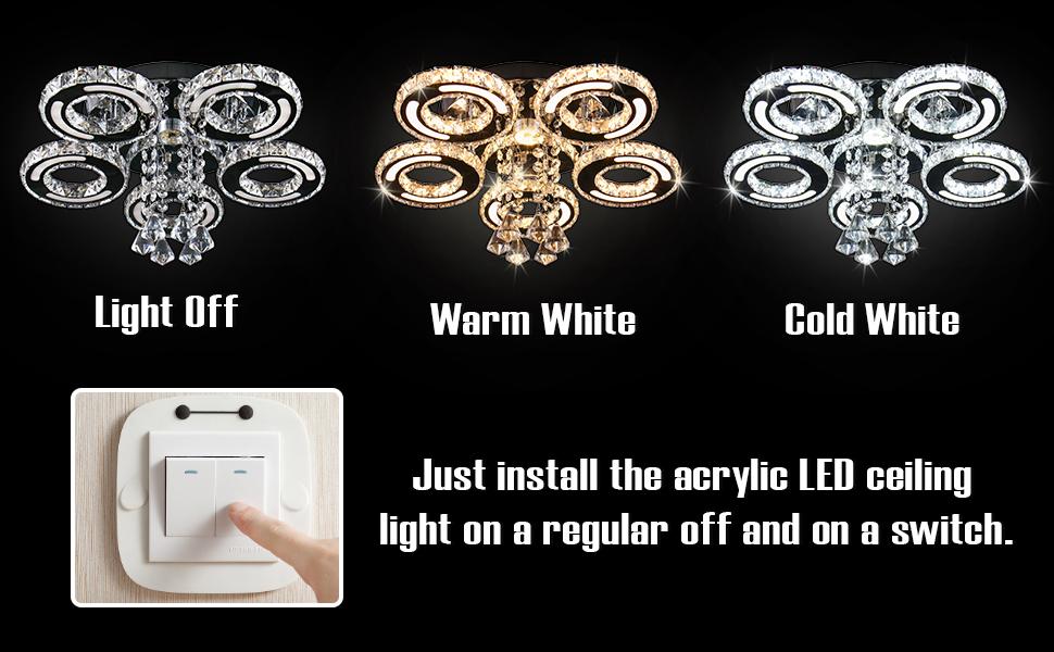 flush mount light fixture crystal