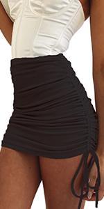 SK321 Black mini skirt