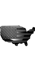 USA Map Flag Metal Hitch Cover