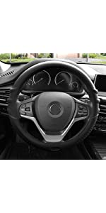 black silicone steering wheel