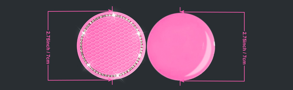 7 cm/ 2.75 inches in diameter 2 pieces silicone Pink