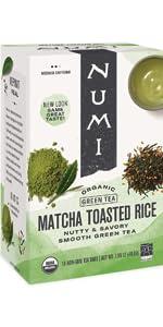 numi organic matcha toasted rice genmaicha