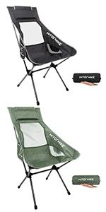 Hitorhike High Back Camping Chair 1PACK