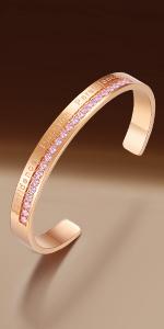 Inspirational birthstone bracelet
