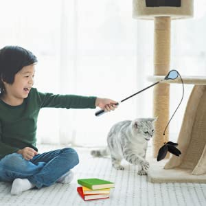 cat toy wire cat toy wand fishing pole cat toy cat toy feather wand toy cat wands cat teaser wand