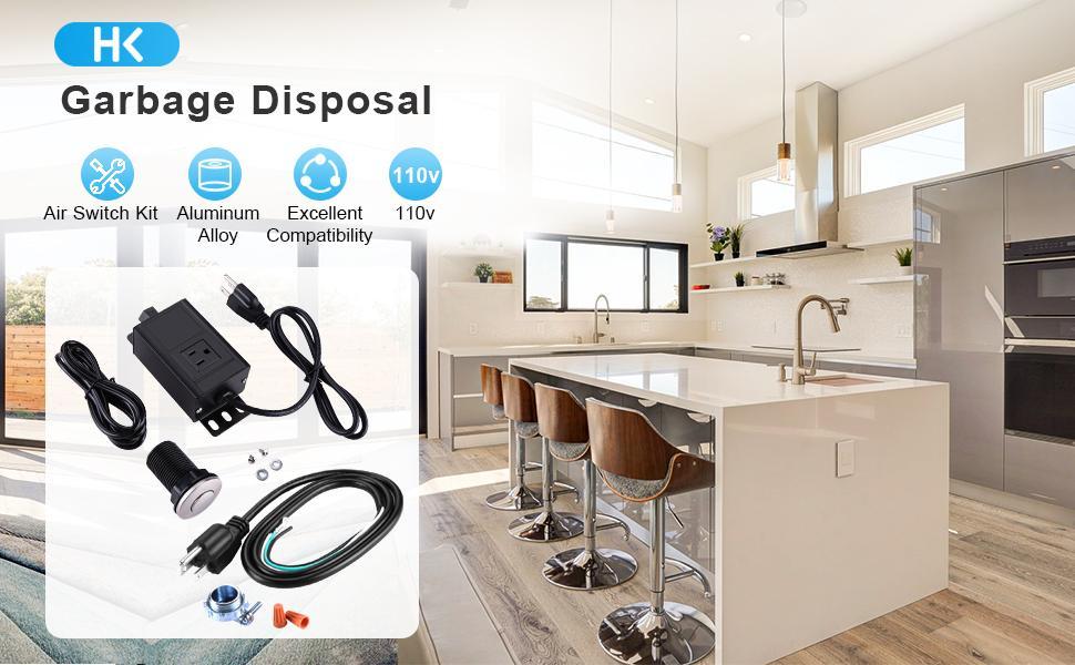 Garbage Disposal Air Switch Kit