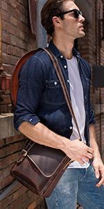 leather crossbody bag for men