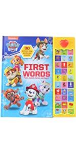 PAW Patrol - First Words 30-Button Sound Book