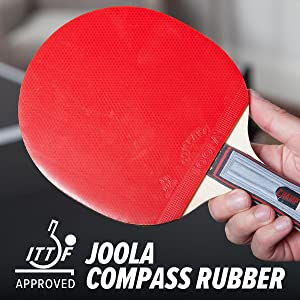 JOOLA Compact Rubber ITTF Approved Red Ping pong paddle