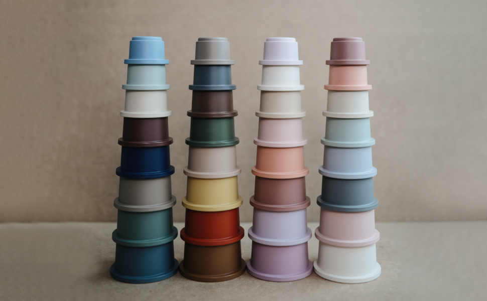 Mushie Stacking Cups | All Colors