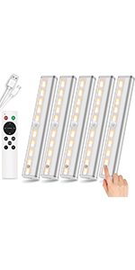 remote control under cabinet lighting ,rechargeable wireless closet lights
